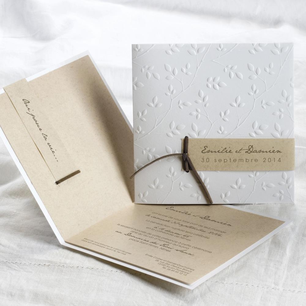 id es wedding cake faire part ivoire chocolat. Black Bedroom Furniture Sets. Home Design Ideas