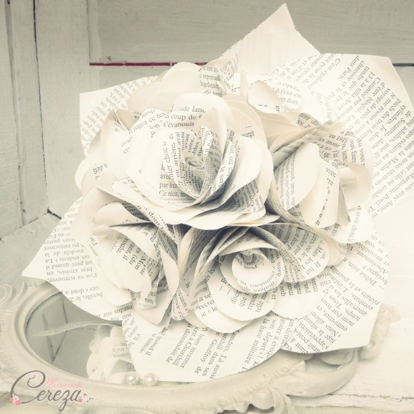 bouquet de mariee original atypique roses papier cereza mademoiselle 2