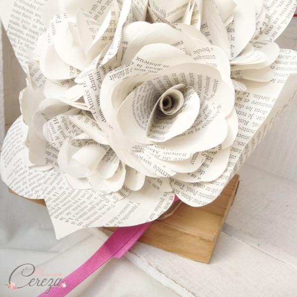 bouquet mariée hiver papier original