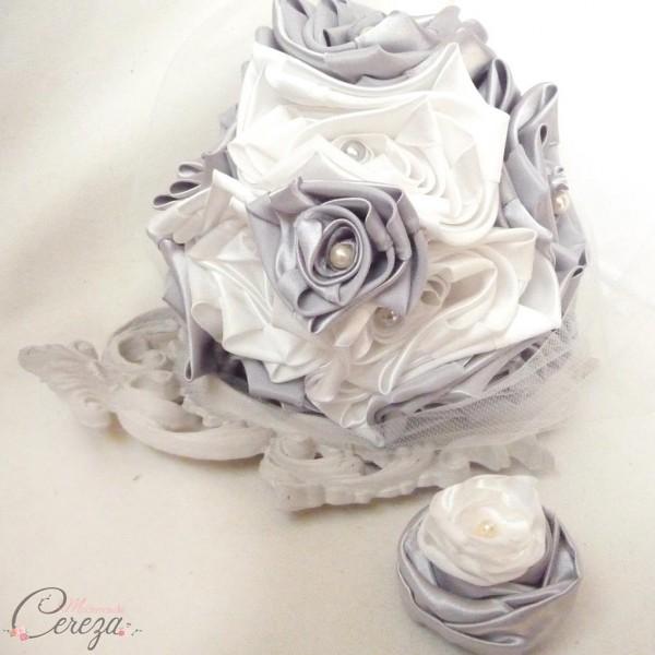 se marier en hiver bouquet de mariee original eternel gris ivoire personnalisable cereza