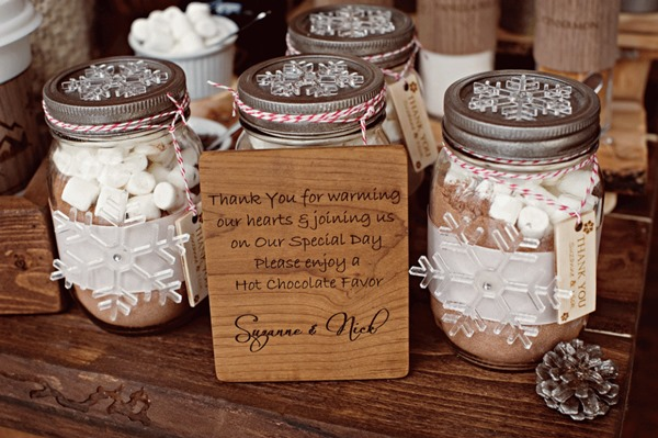 se marier en hiver cadeaux invites gourmands chocolat chaud b
