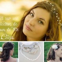 sélection de bijoux de tête mariage cereza mademoiselle