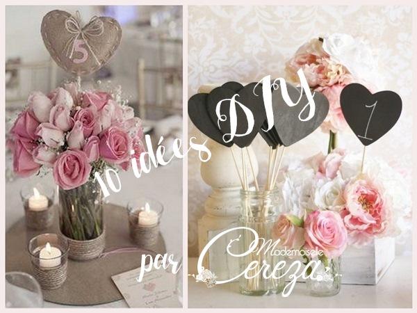 idées pour un joli mariage numéros de table mariage  10 idées originales diy cereza blog mariage