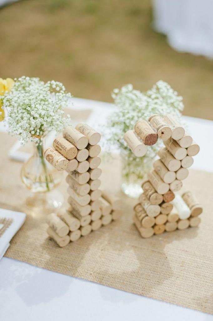 numéros de table mariage bouchons liège diy cereza blog mariage g