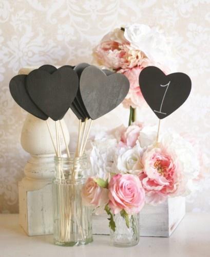 numéros de table mariage coeur ardoise romantique Mademoiselle cereza blog mariage