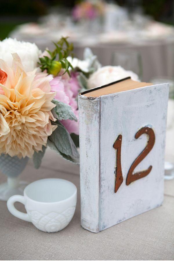 numéros de table mariage idées originales livre à customiser peindre diy blog mariage cereza 1