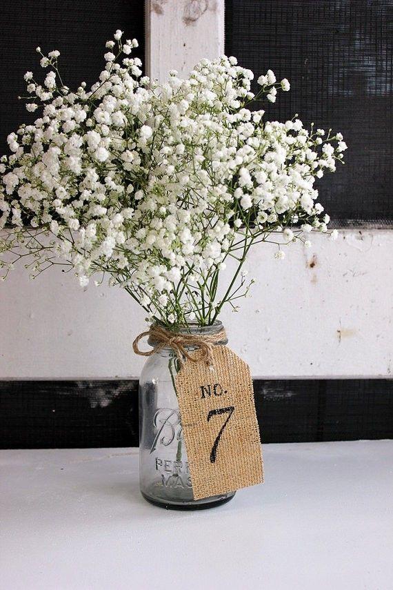 numeros table mariage diy etiquette jute ou lin peint au pochoir