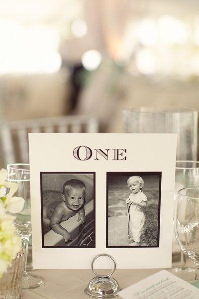 photo des mariés au même age que le numéro de table diy cereza blog mariage