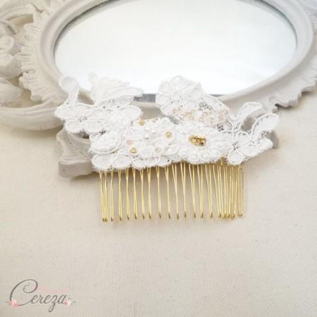 bijou de tête dentelle perles mariage melle cereza deco