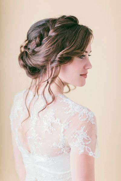 idée coiffure mariée chignon de mariage boheme chic romantique poétique