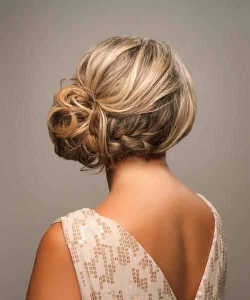 idées coiffure mariée chignon tresse boheme