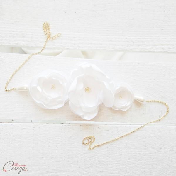headband mariee fleurs personnalisable Inaya Mademoiselle Cereza