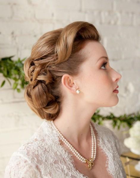 mariée rétro vintage idée coiffure chignon