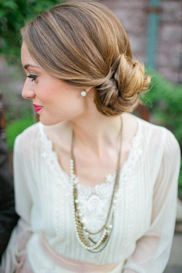 idée coiffure mariée chignon style rétro vintage Mademoiselle Cereza blog mariage 5