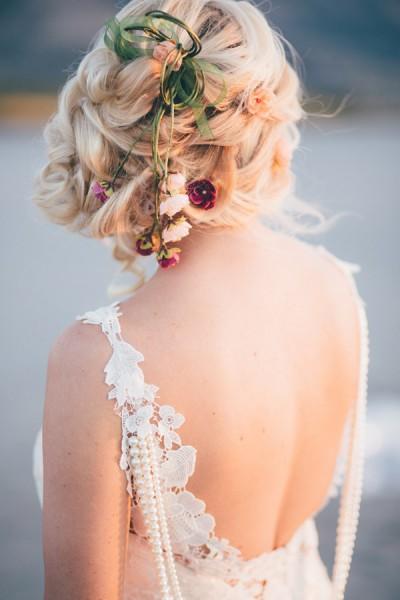 idée coiffure mariage chignon tressé