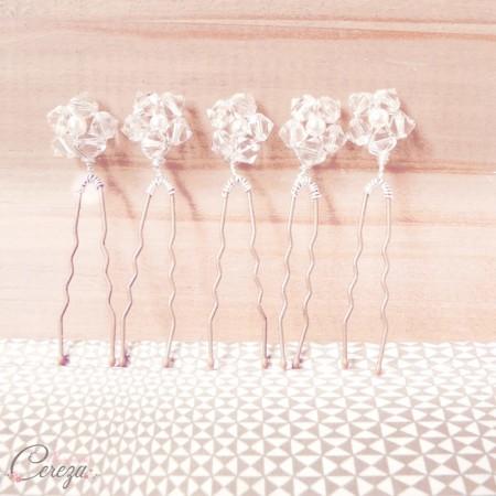 pics chignon mariage perles cristal swarovski
