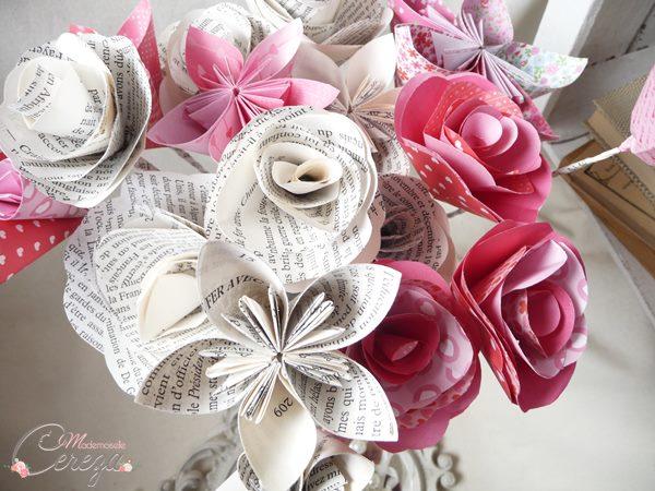 mariages colorés bouquet de mariée en papier original