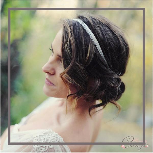coiffure mariée cheveux mi longs idée headband cereza mademoiselle