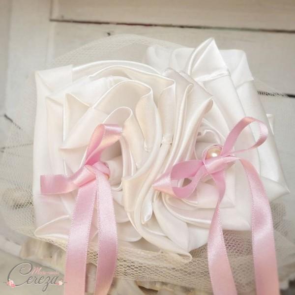 porte alliance mariage ivoire rose personnalisé cereza deco 1