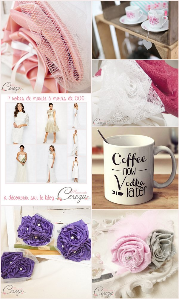mariage vieux rose, rouge, violet blog cereza mademoiselle