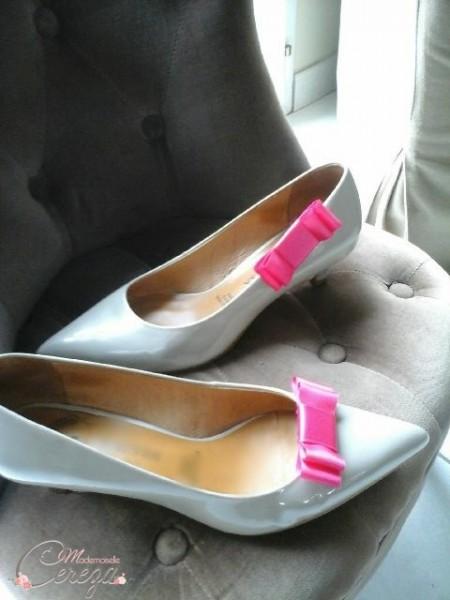 bijoux de chaussure shoe clip noeud rose fuchsia mademoiselle cereza 2