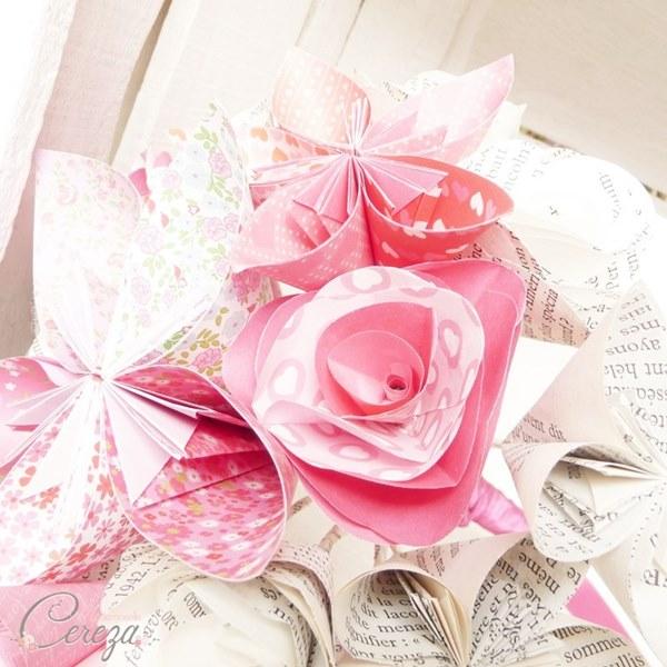 bouquet de mariage atypique original en papier cereza mademoiselle