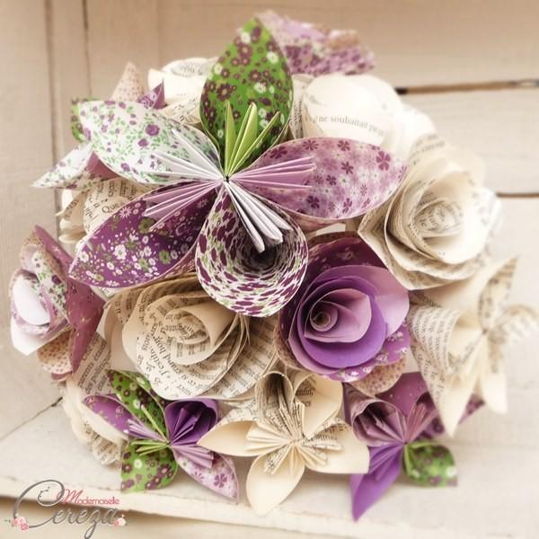 bouquet mariage original eternel papier origami Melle Cereza