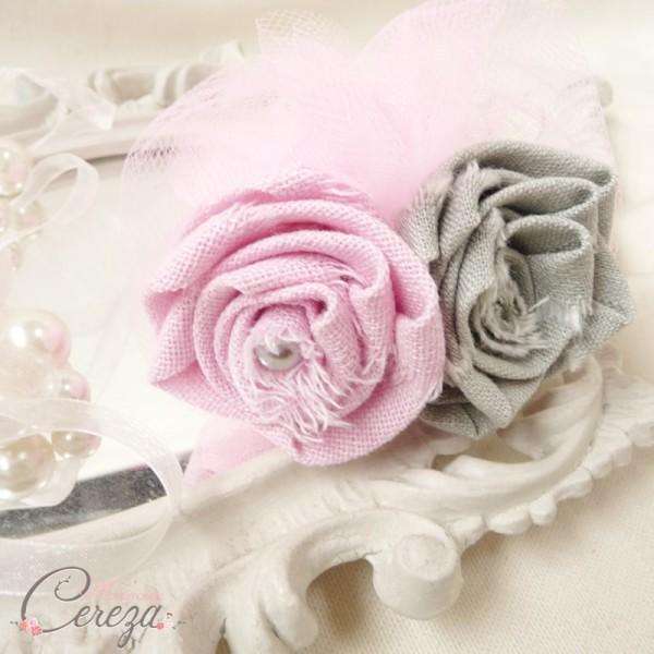 mariage rose gris boutonniere marie fleur personnalisable