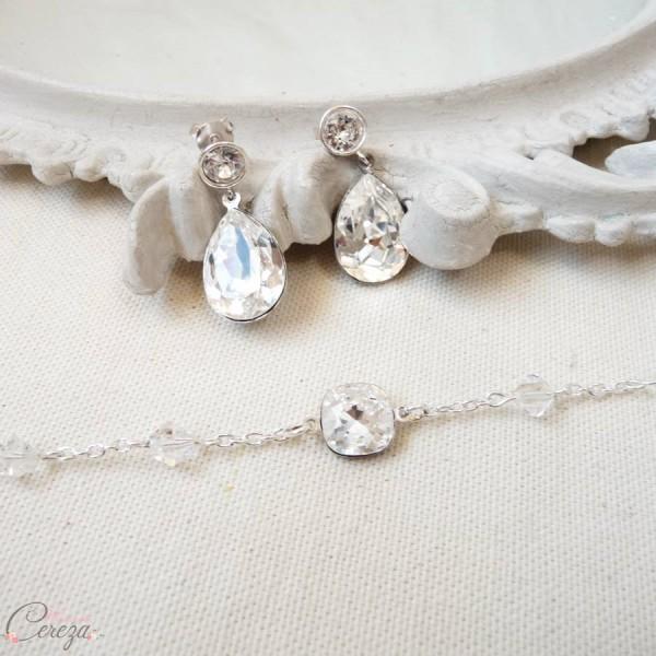 bracelet mariée strass cristal perles cristal cereza mademoiselle 7