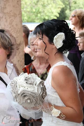 mariage ivoire et beige esprit bohème bouquet mariee original bijou coiffure mademoiselle cereza 2