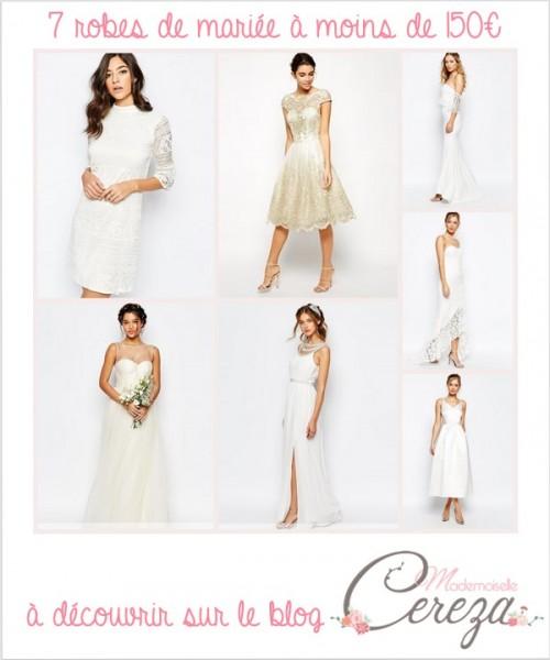 robes de mariee a moins de 150 euros Asos Mademoiselle Cereza  blog mariage 2016 d