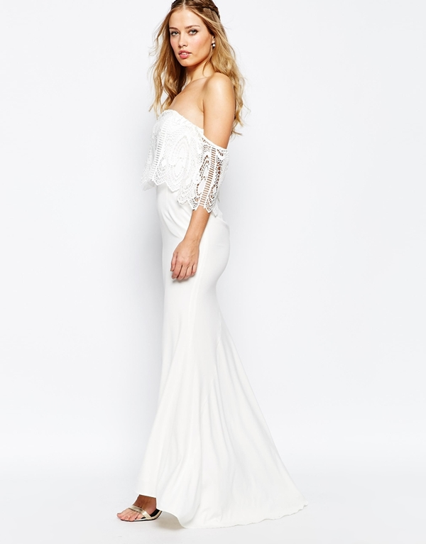 robes de mariee a moins de 150 euros Asos robe dentelle epaules nues Mademoiselle Cereza  blog mariage