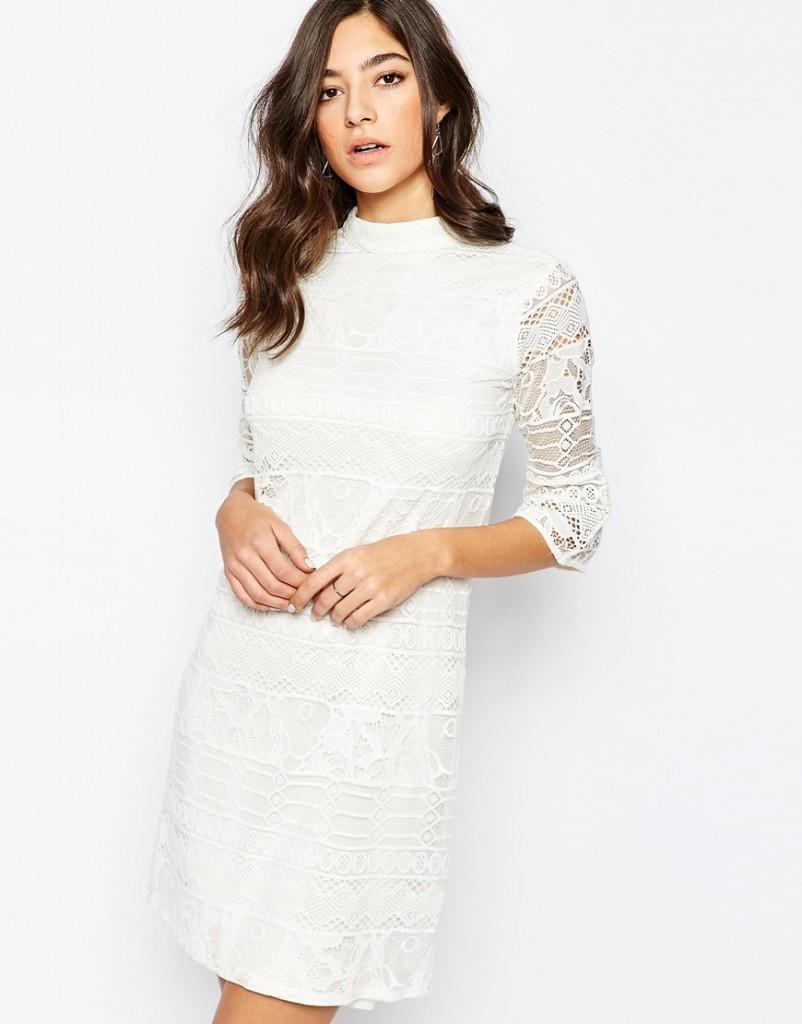 robes de mariee a moins de 150 euros Asos robe dentelle manches trois quart Mademoiselle Cereza  blog mariage