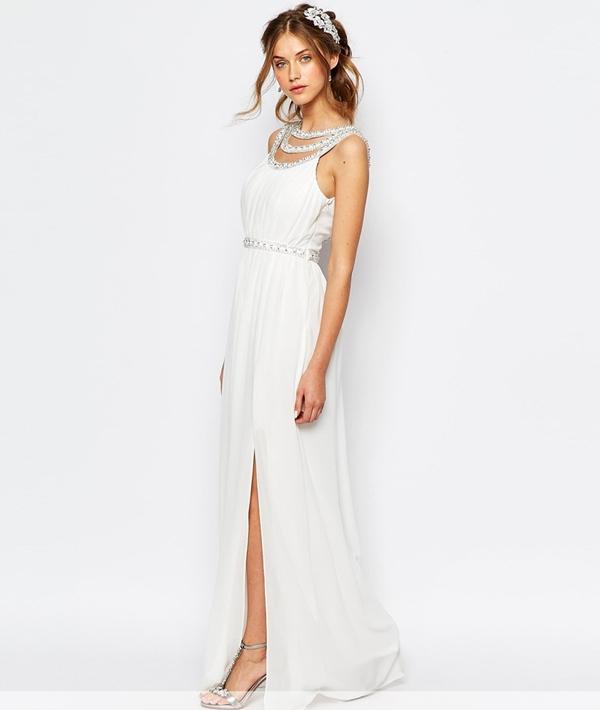 robes de mariee a moins de 150 euros Asos robe longue deesse grecque strass Mademoiselle Cereza  blog mariage