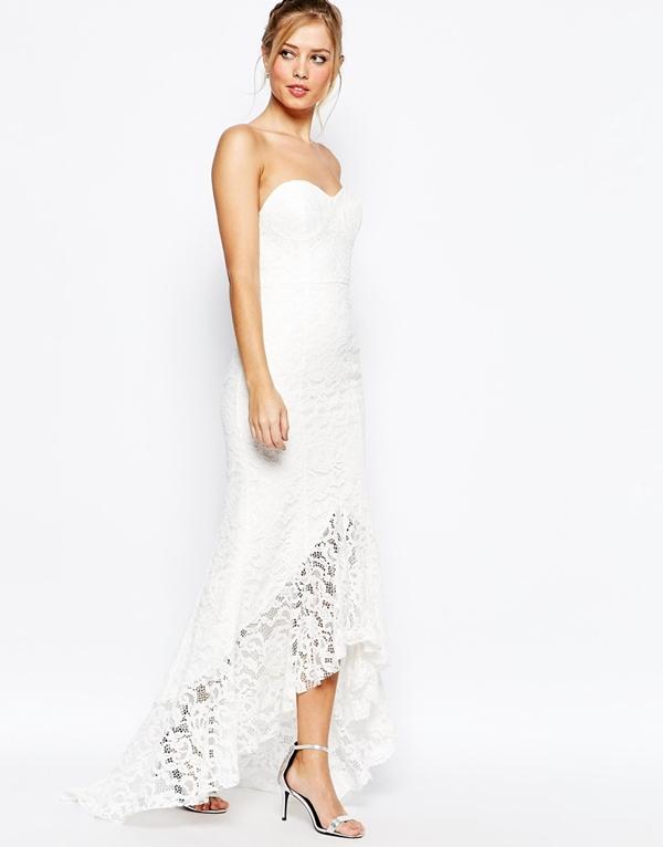 robes de mariee a moins de 150 euros Asos robe longue dentelle boheme decollete coeur Mademoiselle Cereza  blog mariage
