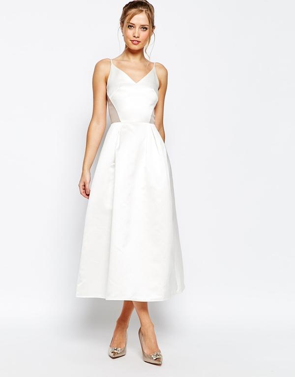 robes de mariee a moins de 150 euros Asos robe longue tulle satin simple Mademoiselle Cereza  blog mariage