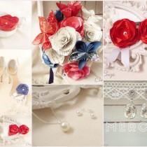 mariage bleu blanc rouge bijoux accessoires mariage cereza mademoiselle