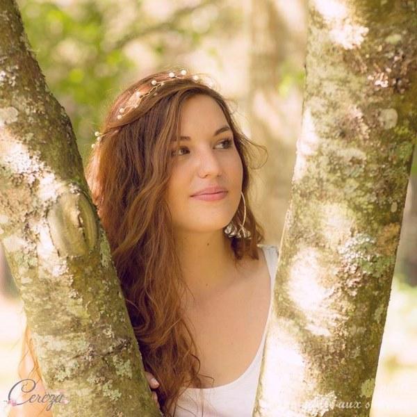 bijou de coiffure romantique headband mariee perles couronne cereza mademoiselle