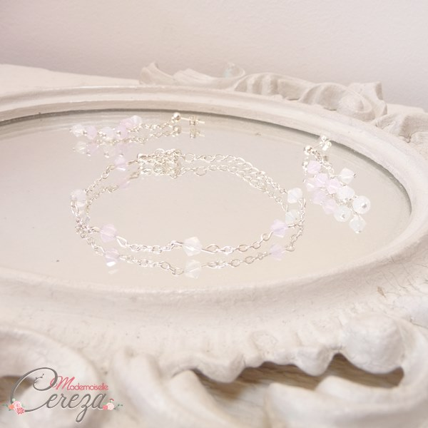 bijoux mariage romantique rose blanc mademoiselle cereza