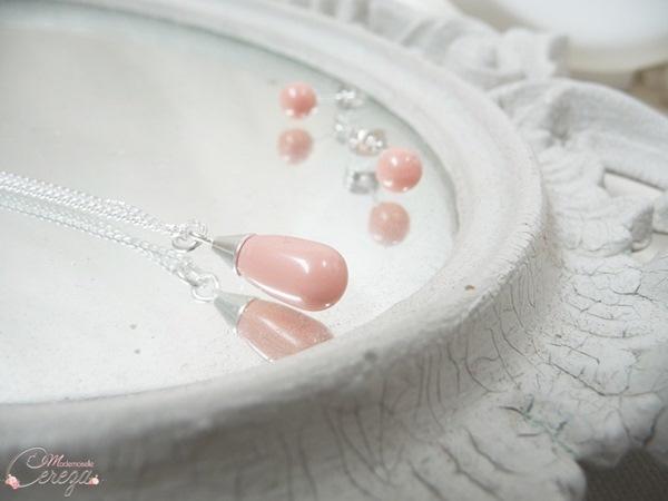 mariage corail bijoux mariee chic discret collier boucles personnalisables