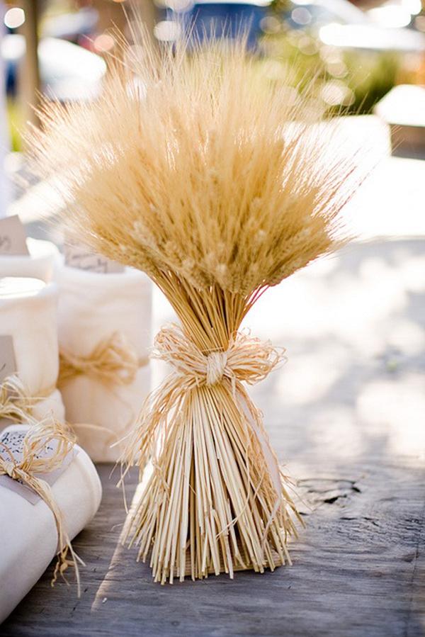choisir son centre de table mariage blé champêtre rustique
