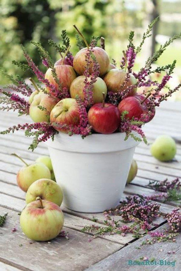 choisir-son-centre-de-table-mariage-nature-fruits-pommes-bruyere-automne-blog-mariage-mademoiselle-cereza