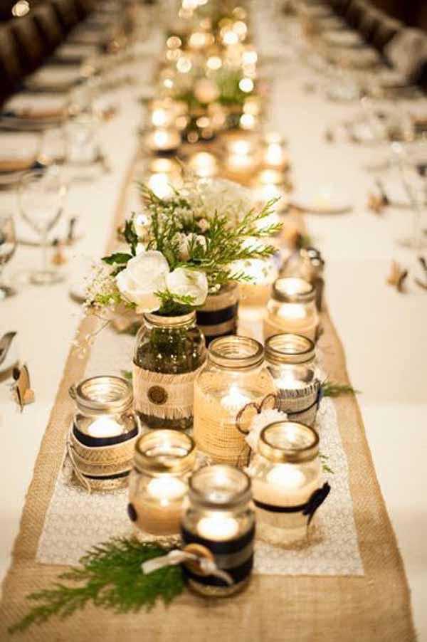 choisir son centre de table mariage table rectangulaire idée