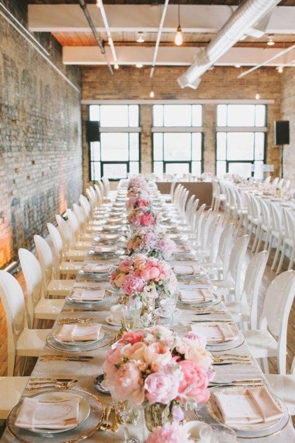 choisir son centre de table mariage forme table rectangulaire