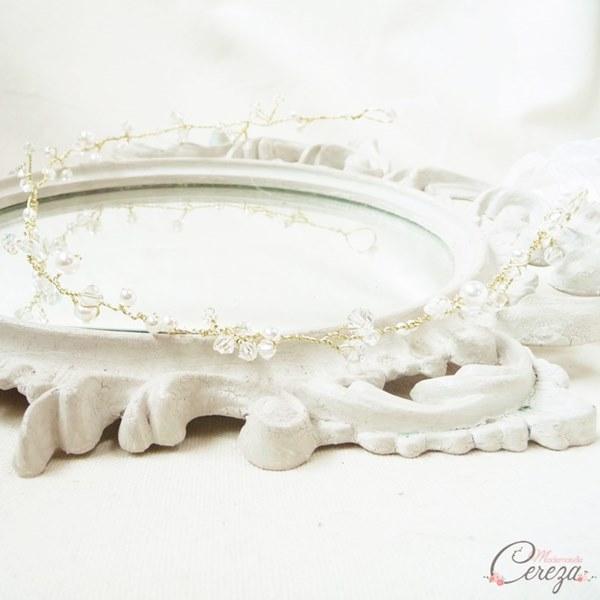 bijou de coiffure romantique headband mariee mariage cereza mademoiselle