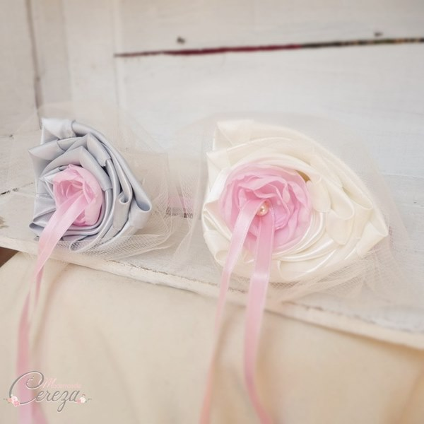 porte-alliances original mariage ivoire rose gris cereza mademoiselle duo