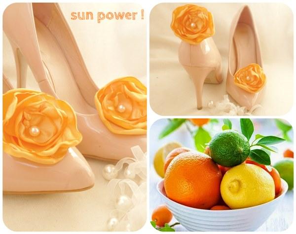 mariage orange bijoux chaussure cereza mademoiselle