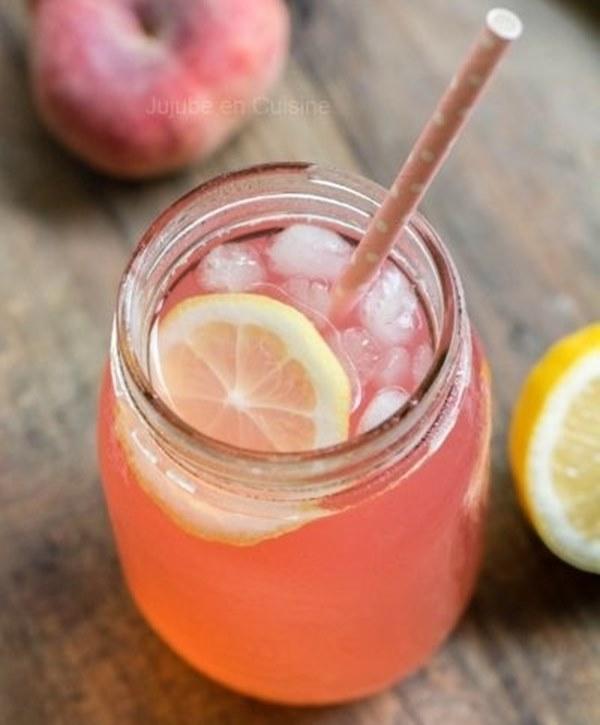 idée limonade à faire soi même citronnade peche
