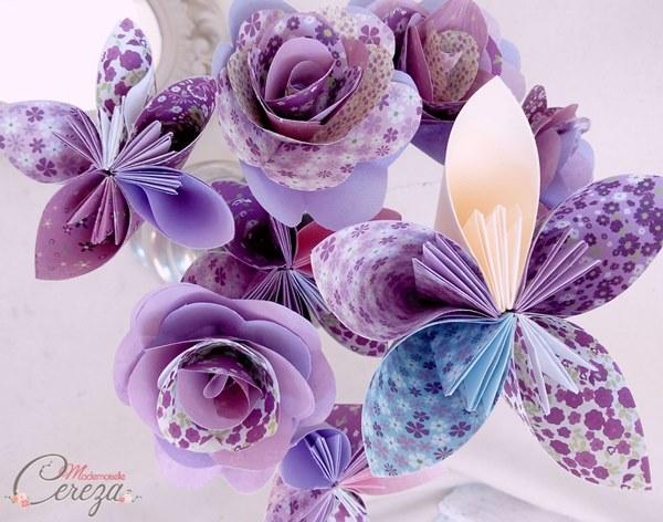 fleurs bouquet mariage original parme ivoire cereza mademoiselle