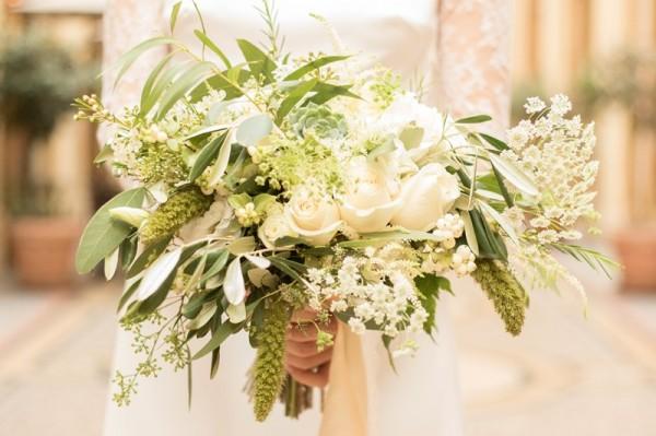 mariage bohème chic à Paris bouquet mariee détail